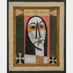 Edward John Stevens Jr. (American, 1923-1988)      Portrait Head of a Woman