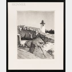 Two Framed Prints:      Stow Wengenroth (American, 1906-1978), Maine Lighthouse