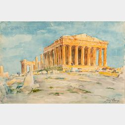 Henry Bacon (American, 1839-1912)      The Parthenon