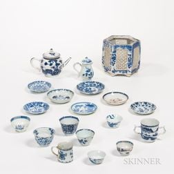 Group of Export Blue and White Items