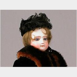 French Bisque Swivel-Neck Lady Doll