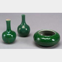 Three Green Monochrome Items