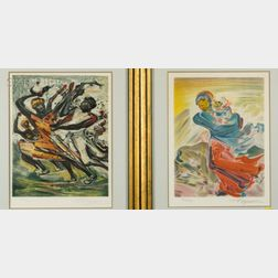 David Alfaro Siqueiros (Mexican, 1896-1974)    Lot of Two Images