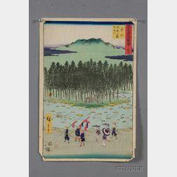 Seven Prints by Hiroshige
