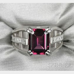 Platinum, Garnet, and Diamond Ring, Barry Kieselstein-Cord