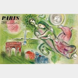 After Marc Chagall (Russian/French, 1887-1985)      Paris l'Opera