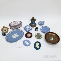 Group of Mostly Wedgwood and Other Jasper Items.     Estimate $150-200