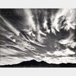 William A. Garnett (American, b. 1916)      Clouds over Desert, Blyth, California, 1947.