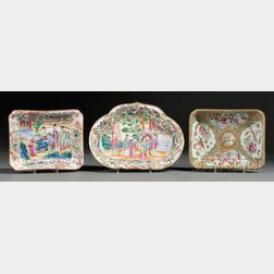 Three Chinese Export Porcelain Serving Dishes