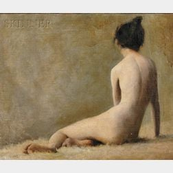 Eric L. (Frederic) Pape (American, 1870-1938)      Reclining Nude Portrait of Alice M. Pape, the Artist's Wife