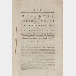 Massachusetts, General Court. Resolves of the General Court of the Commonwealth of Massachusetts