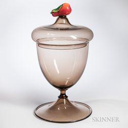 Monumental Murano Glass Covered Urn