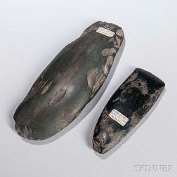 Two New Guinea Stone Adze Heads
