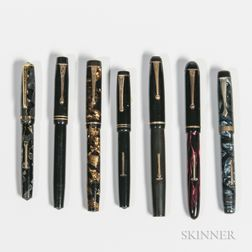 Seven British Fountain Pens
