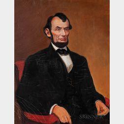 Nicholas Vasilieff (American/Russian, 1892-1970)    Abraham Lincoln