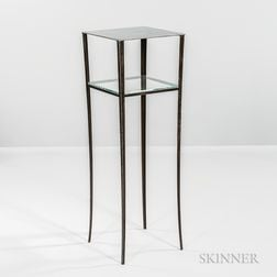 Tall Welded and Polished Steel Stand