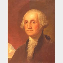 Framed Oil Portrait of George Washington.