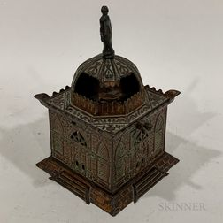"Cast Iron ""Mosque"" Mechanical Bank"