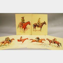 After Frederic Remington (1861-1909)    Set of Six Penn Prints Portraits