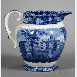 Historical Blue Transfer-decorated Milk Pitcher