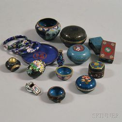 Small Group of Cloisonne Items