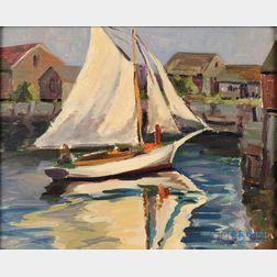 Leighton R. Cram (American, 1895-1981)      Off Marmion Way