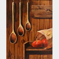 Harry Lane (American, 1891-1973)      Three Spoons