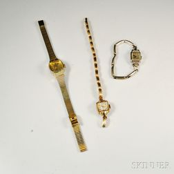 Three Lady's Wristwatches