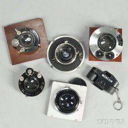 Voigtlander Heliar and Four Goerz Lenses