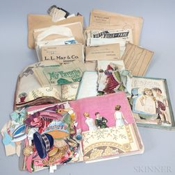 Large Group of Lithographed Paper Dolls and Related Ephemera
