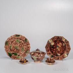 Five Staffordshire Lead-glazed Creamware Items