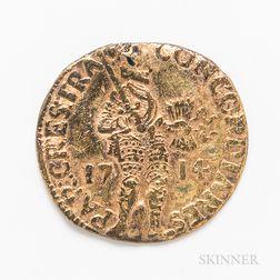 1714 Netherlands Gold Ducat