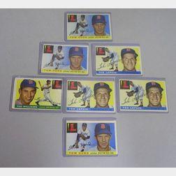 Seven 1955 Topps Baseball Cards