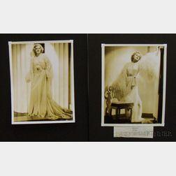 Two Jean Harlow MGM Studio Publicity Portrait Photographs