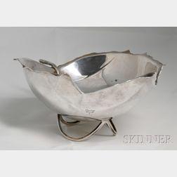 Cartier Sterling Silver Leaf-shaped Bowl
