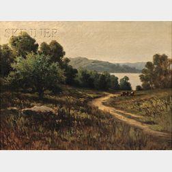 C. Myron Clark  (American, 1858-1925)      Early Morning, Winnipoisett Lake (Long Pond)