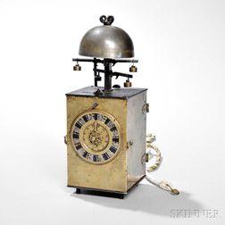 Signed Japanese Double Foliot Kake Dokei or Lantern Clock