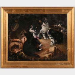 H.B. Jones (American, Late 19th Century)      Portrait of Cats