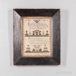 Dated 1769 Mary Pilfold Needlepoint Sampler