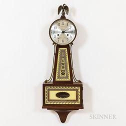 Seth Thomas Reverse-painted Mahogany Banjo Clock