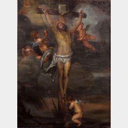 School of Sir Anthony van Dyck (Flemish, 1599-1641)    Crucifixion