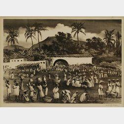 Adolf Arthur Dehn (American, 1895-1968)      Market in Haiti