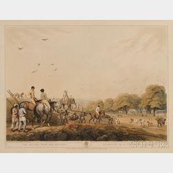 William-Samuel Howitt (British, fl. 1765-1822) After Thomas (Capt.) Williamson, Three Engravings of Oriental Field Sports: The Return f