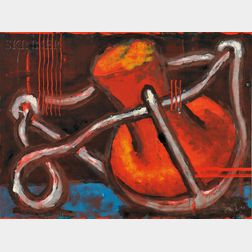 Aaron Fink (American, b. 1955)      Three Abstract Prints
