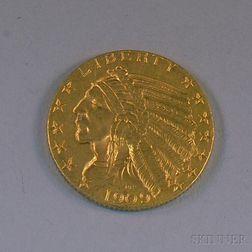 1909 Indian Head Five Dollar Gold Coin