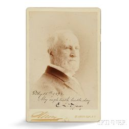 Photograph of C. L. Tiffany Autographed Cabinet Card