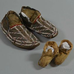Two Pairs of Moccasins