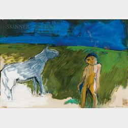 William Theophilus Brown (American, 1919-2012)      Boy with Horse