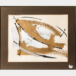 Attributed to Michael Bigger (American, 1937-2011)      Abstract with Gold.