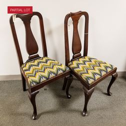 Set of Twelve Queen Anne-style Mahogany Dining Chairs.